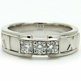 TIFFANY & CO.WG Atlas Diamond Ring Size 4.5