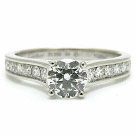 CARTIER Platinum 1895 Solitaire Diamond Ring Size 5