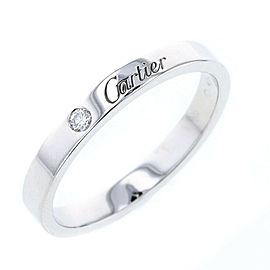 CARTIER Platinum Engraved wedding 1P Diamond Ring Size 10
