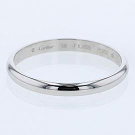 CARTIER Platinum Wedding Ring Size 8.25