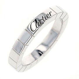 CARTIER 18K WG Laniere Ring Size 4.75