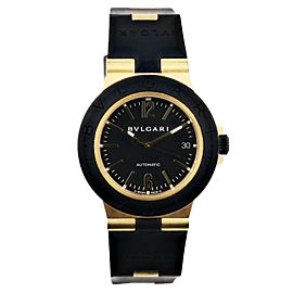 Bvlgari Diagono AC38G 18k Yellow Gold Mens Watch Box Papers