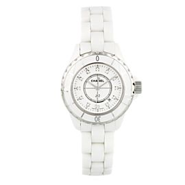 Chanel J12 H0968 Diamond Dial Ceramic Ladies Watch