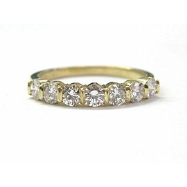 Tiffany & Co 18KT 7-Diamond Bar Band Ring Yellow Gold .95Ct