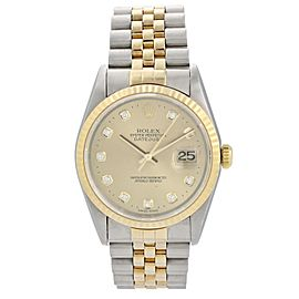 Rolex Datejust 16233G Diamond Dial Men Watch