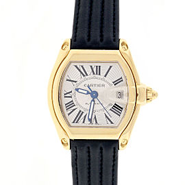 Cartier Roadster Large Silver Roman Dial Automatic Watch W62005V1 Box&Papers