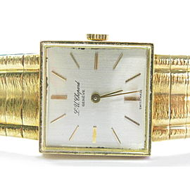 """Chopard 18Kt Vintage SOLID Yellow Gold Watch 6.75"""" 20mm x 20mm"""