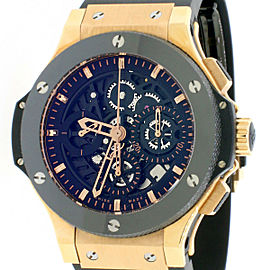 Hublot Aero Big Bang Skeleton Rosegold Ceramic 44mm Chronograph Watch Box Papers