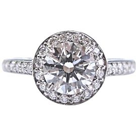Tiffany & Co Platinum .92ct H-IF +.22ct Accent Diamond EMBRACE Engagement Ring