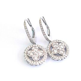 Louis Vuitton 18Kt Monogram Forever Sleepers Diamond White Gold Earrings .97Ct