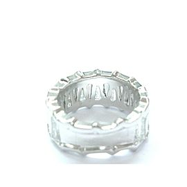 Platinum Taper Baguette Cut NATURAL Diamond Band Ring 21-Stone Sz 5.75 5.50Ct