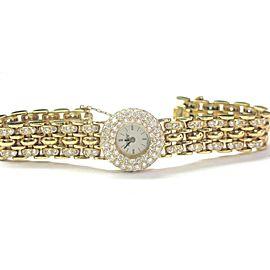 Alan Adler 18Kt Women's 6.00CT Diamond Quartz Watch Yellow Gold