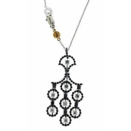 Damiani Juliette black and white diamond necklace in 18k gold