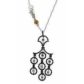 Damiani Juliette black and white diamond necklace in 18k gold