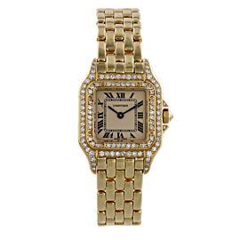 Cartier Panthere 18K Yellow Gold Diamond Case & Bezel Ladies Watch