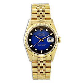 Rolex Datejust 16238 18k Yellow Gold Diamond Dial Mens Watch