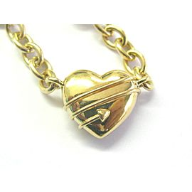 Tiffany & Co 18Kt Triple Heart & Arrows Yellow Gold Necklace 16''
