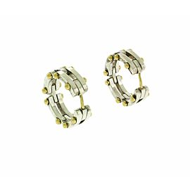 Tiffany & Co hoop earrings in 18k gold & sterling silver