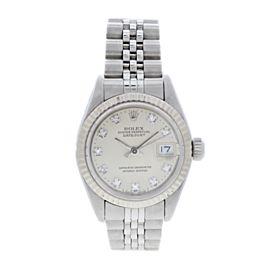 Rolex Datejust 69174 Diamond Dial Ladies Watch