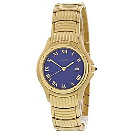 Cartier Cougar 1165 1 18k Yellow Gold Men's Watch