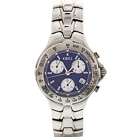 Men's Stainless Steel Ebel Sportwave Blue Chronograph E9251641
