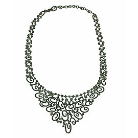Stefan Hafner 18k white gold diamond necklace