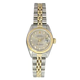 Rolex Datejust 69173 Jubilee Diamond Dial Ladies Watch