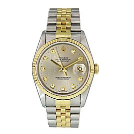Rolex Datejust 16233 Diamond Jubilee Dial Mens Watch