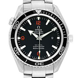 Omega Seamaster Planet Ocean XL Orange Numbers Mens Watch 2200.51.00
