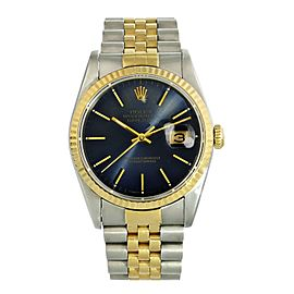 Rolex Datejust 16233 Blue Dial Mens Watch
