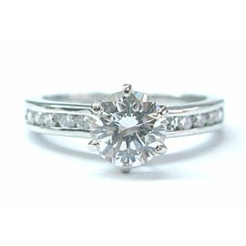 Tiffany & Co Platinum Diamond Channel Set Engagement Ring 1.33CT G-VS1