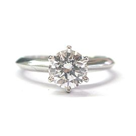 Tiffany & Co Platinum Round Diamond Solitaire Engagement Ring 1.09CT G-VVS2