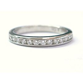 Tiffany & Co Platinum Diamond Channel Set Band Ring Size 4.5 2.3mm