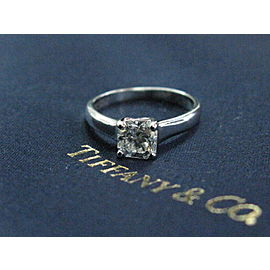 Tiffany & Co Platinum Lucida Diamond Engagement Ring E-VVS1 .87CT