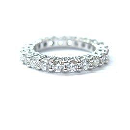 Fine Round Cut Diamond Eternity Band White Gold Ring Size 5.25 1.89CT 3mm
