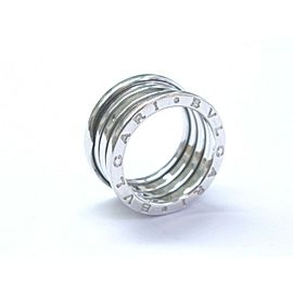 Bulgari B Zero 18Kt 10mm Ring White Gold Size 55