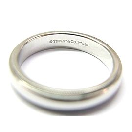 Tiffany & Co Platinum Milgrain Wedding Band Ring Size 7.75 4mm