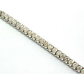 "Round Diamond Tennis Bracelet TWO PRONG 14Kt White Gold 51-Stones 6.00Ct 7"" G-VS"