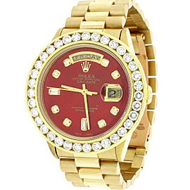 Rolex President Day-Date 18K Yellow Gold 36mm w/3.65ct Diamond Bezel Watch 18038