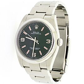 Rolex Oyster Perpetual Black Dial 36mm Steel Mens Oyster Watch 116000 Box Papers