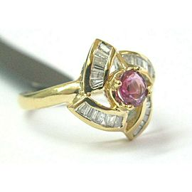 Ruby & Diamond Ring Solid 18Kt Yellow Gold 2.41Ct F-VS2 SIZEABLE