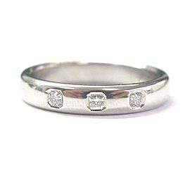 Tiffany & Co Platinum Lucida Diamond Band Ring 4mm .15CT Sz 4.5