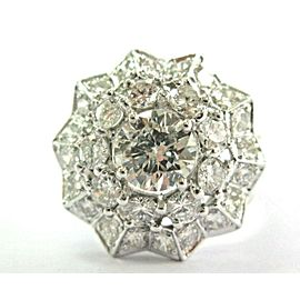 Natural Spider Web Design Diamond White Gold Ring 3.19Ct