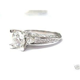 SOLID 18Kt Round Cut NATURAL Diamond Engagement White Gold Ring 2.05CT
