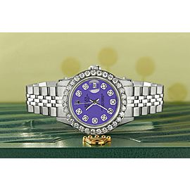 Rolex Datejust Steel 26mm Jubilee Watch Pastel Purple 1.3CT Diamond Dial/Bezel