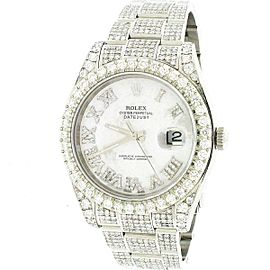 Rolex Datejust II 41mm Steel Watch 10.30CT Diamond 116300