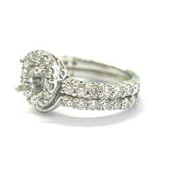 Platinum Diamond Semi Mount Halo Ring .80Ct F-VS1 ( .50Ct-.75Ct 7mm)