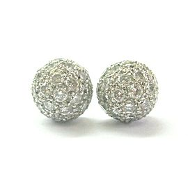Tiffany & Co Platinum Elsa Peretti Etoile Diamond Pave Stud Earrings 1.45Ct