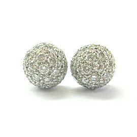 Tiffany & Co Platinum Elsa Peretti Etoile Diamond Pave Stud Earrings 1.45Ct