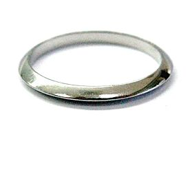 Tiffany & Co Platinum Wedding Band Ring 2mm Size 6.5